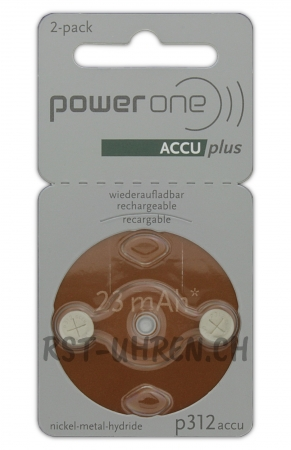 Hörgeräte Akku power one ACCU plus p312